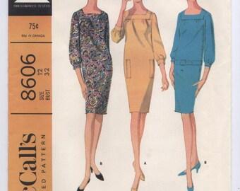 McCall's 8606 -- Vintage 1960s Misses' Dress Pattern -- Bust 32