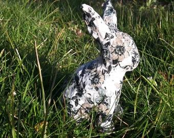 Rabbit - Spring - Easter - Decoupage - Ornament - Easter Gift - Floral - Easter Bunny - Easter Rabbit