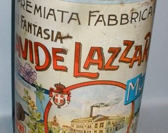 FANTASIA BISCOTTI Biscuit Tin by Davide Lazzaroni & Figli early 1900's
