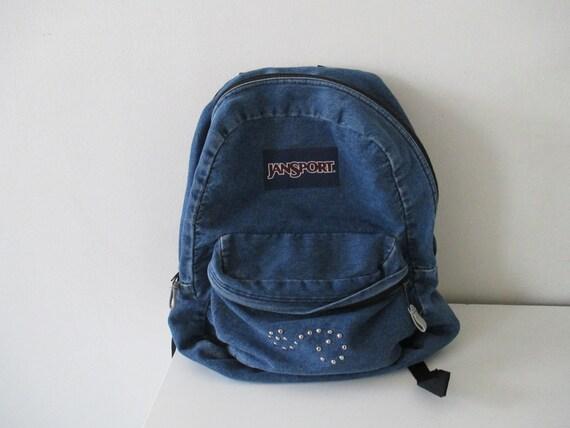 Denim Backpack Jansport Denim Backpack 90's Style