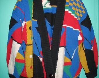 Vintage 1960's woolen cardigan