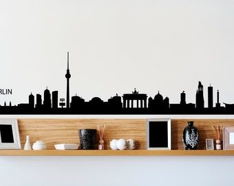 Berlin City Skyline Black Wall Decal