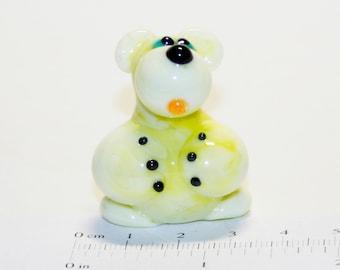 Glass figurine Polar Bear handmade #123