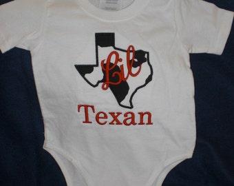 Lil Texas Appliqued Onesie