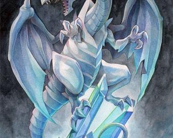 A4 Print  'Blue Eyes White Dragon'