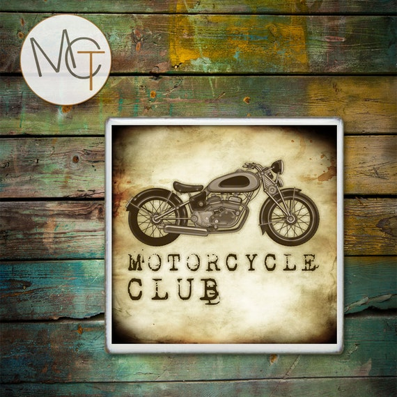 Man Cave Coasters : Motorcycle man cave coasters price is for one coaster bar