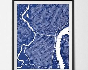 Philadelphia Map Art Print, Philadelphia City Map of Philadelphia Art Poster of Pennsylvania State Map Philly Poster Moving Gift Office Gift