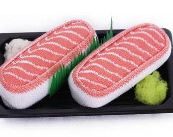 Sushi Socks Box 1 Pair Salmon Cool Gift Present Nice