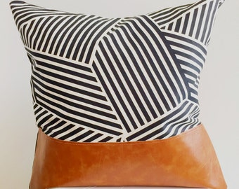 Black and White Pattern Decorative Throw Pillow
