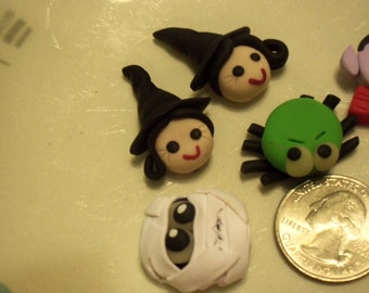 Clay character focal beads