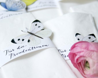8 x Tissue Wedding Favours - Butterflies / NOW available in english too!