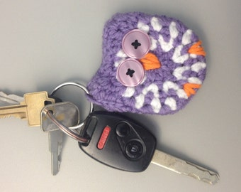 Crochet Owl Keychain. Can be made to order