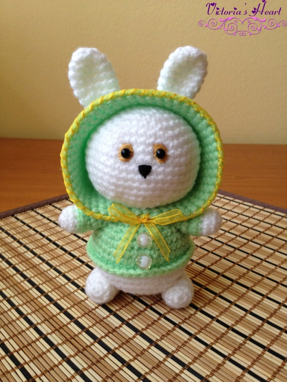 Amigurumi Knitted Animals : Amigurumi crochet-knitted animals in hoodies by SerdceViktorii