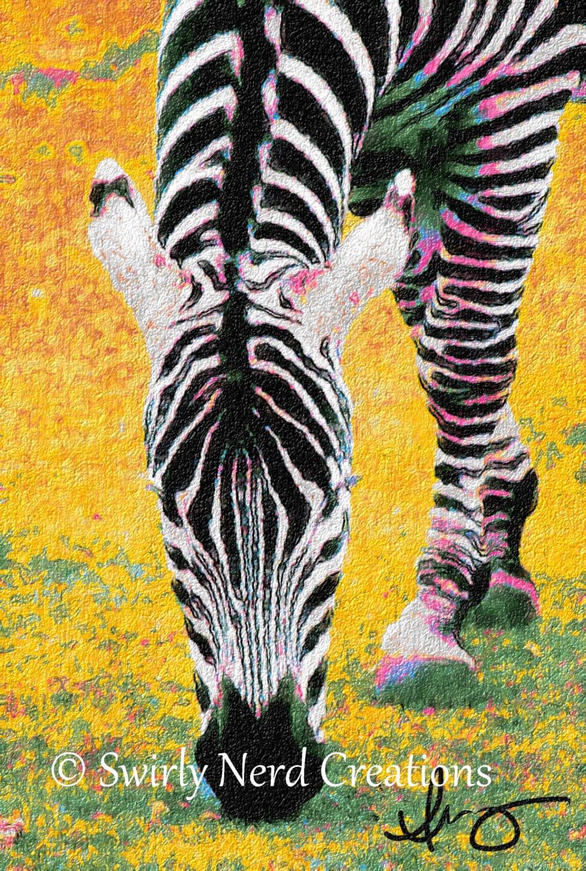Colorful Zebra Print Nail Art Tutorial: Colorful Zebra Fine Art Print By VibrantLifeStudios On Etsy