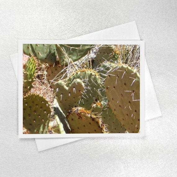 Native American Wedding Gifts: Desert Wedding Note Card Heart Cactus Native American Print