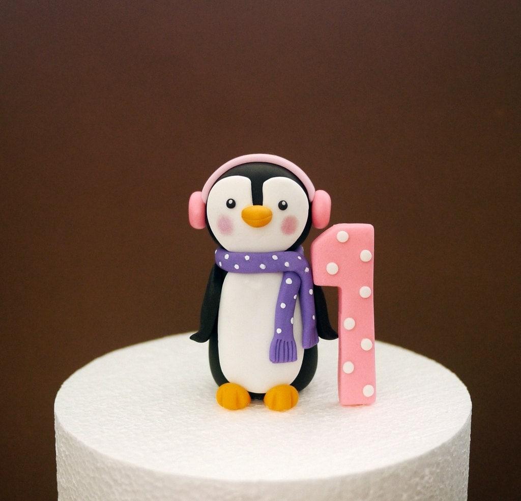 First Birthday Fondant Cake Topper