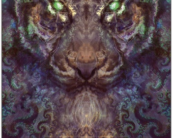 Fractal Intuition Tiger Tapestry