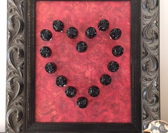 Valentines Gift - Hearts & Knobs Wall Hanging