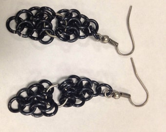 Black Chainmaille Earrings