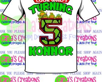 Teenage Mutant Ninja Turtle Inspired T-shirt