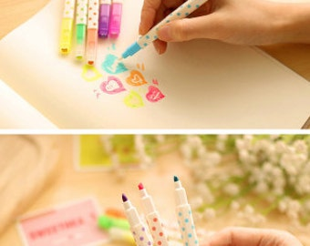Highlighter - Magic Erasable Highlighter (2pcs) | Correctible pens | Erasable Magic pens | School
