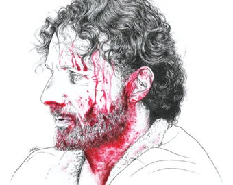"Rick Grimes, ""The Walking Dead"" - art print"