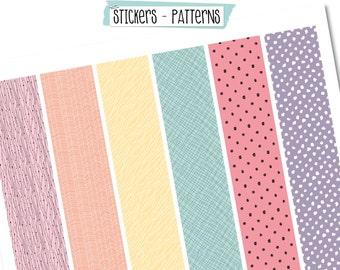 Scrapdelight Planner Stickers - Patterns