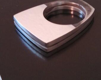 Other Half.... Modernist Sterling Silver Ring
