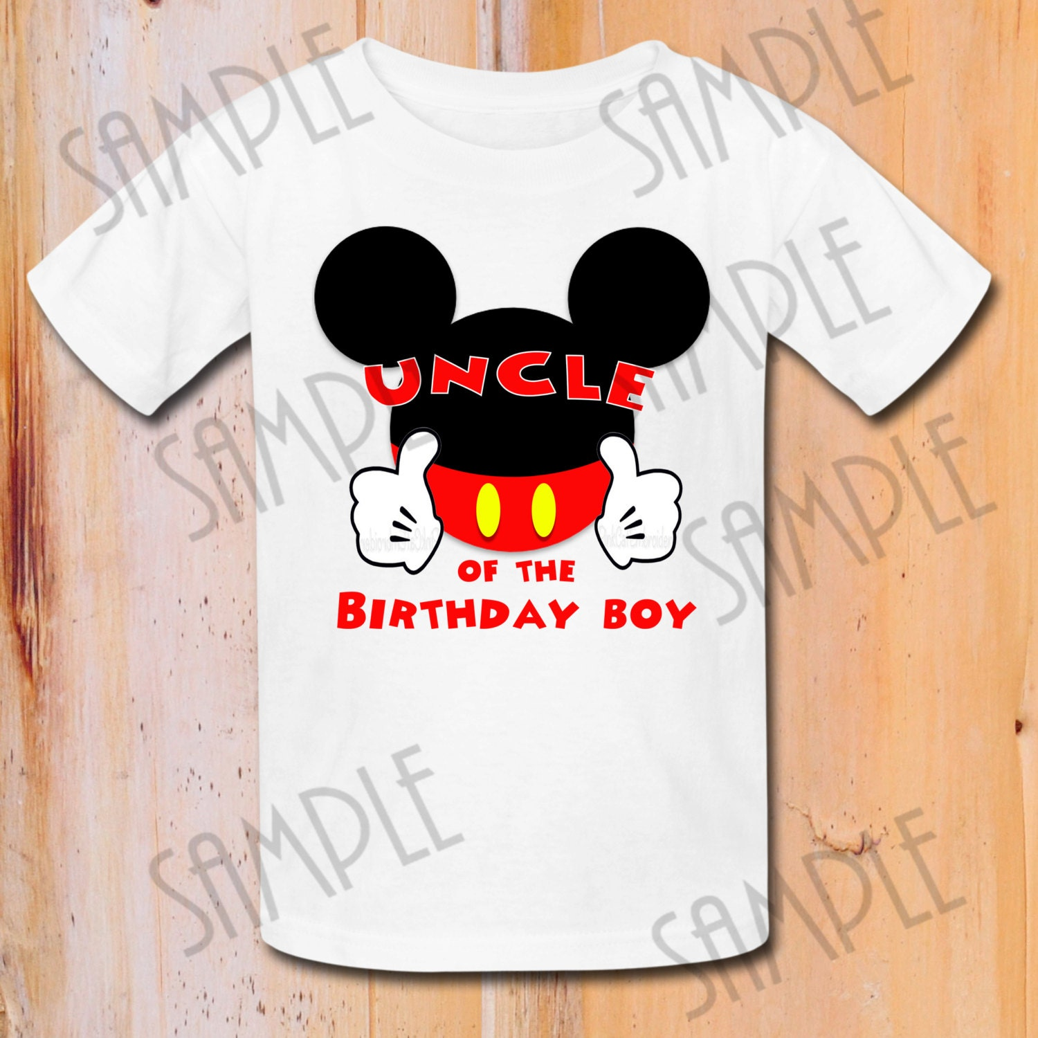 Personalized Birthday Shirts Mickey Mouse