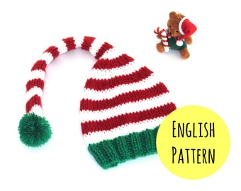 Knitting Pattern Elf Hat : Elf hat pattern Etsy