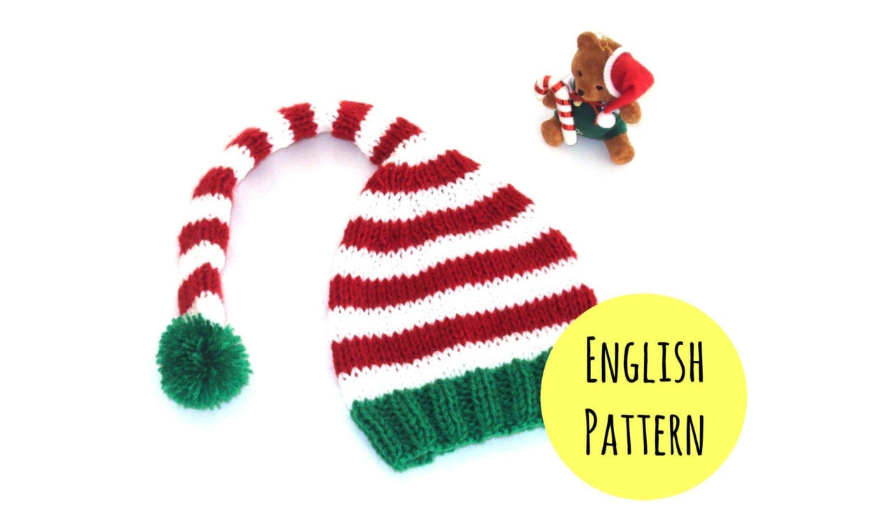 Elf Hat Knitting PATTERN DIY Christmas hat pattern Elf hat