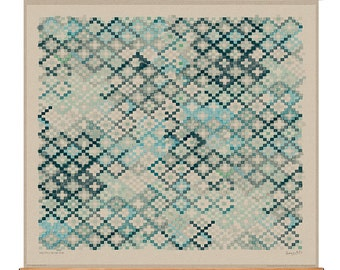 Tapestry in Patina Blue wall hanging