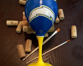 Chargers Game Glass