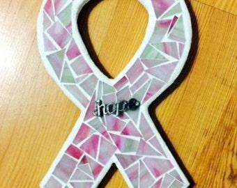 Breast Cancer Awareness Ribbon, Mosaic Breast Cancer Ribbon, Breast Cancer Awareness Ribbon, Awareness Ribbon, Pink Ribbon,