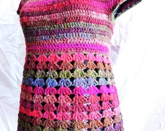 Violaine top - Crochet pattern PDF woman's vest with empire waist - size XS to XL - Permission to sell