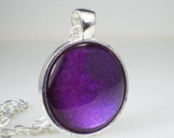 Purple Red Blue Glitter Nail Polish Necklace OPI Grape Set Match Nail Polish Jewelry