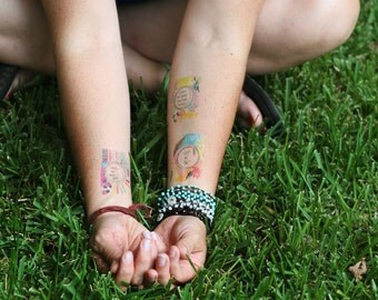 an amazing temporary tattoo bundle - 45 tattoos
