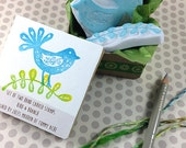 Bird & Branch Hand Carved Boxed Stamp Set