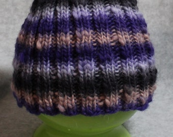 Purple Stripes Children's Knit Hat