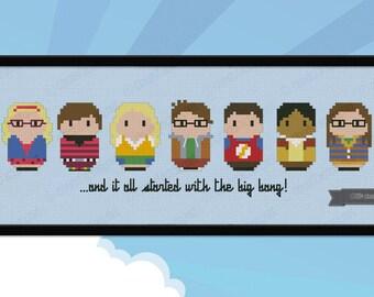 The Big Bang Theory parody - Cross stitch PDF pattern