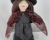 Halloween Witch Doll With Spider Pal