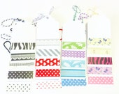 20 Tags with Washi Tape
