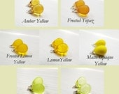 10x14 round czech glass teardrops - yellow - teardrops only - pick your color - interchangeable earrings - one pair