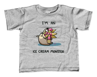 I'm An Ice Cream Monster Kids T-Shirt - Cute Funny Foodie TShirt - Youth and Toddler Sizes