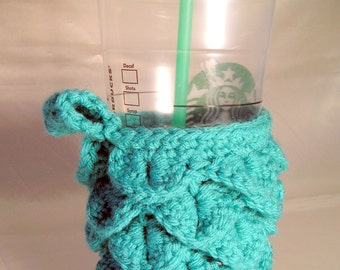 Reusable To Go Cup Cozy with Bottom for coffee, tea, hot cocoa, smoothies, or any other drink...