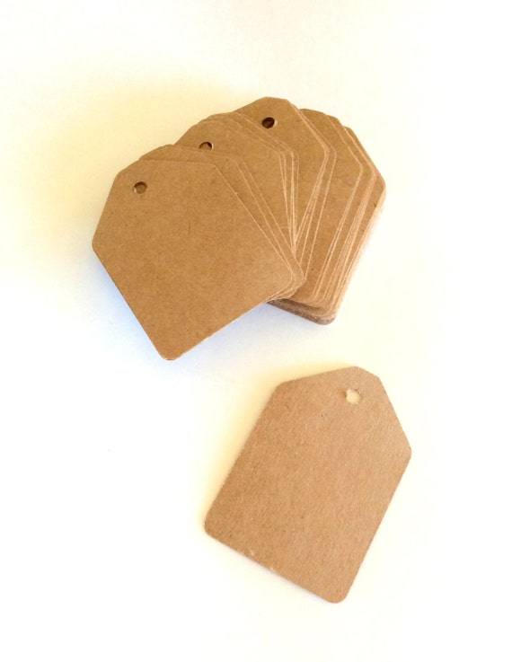 2 x 2 3/4 inch, large kraft gift tags, product tags, favor tags, price tags