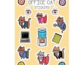 Kawaii Stickers Office Cats Cute Sticker Sheet Cat Stickers Office Gift Super Cute