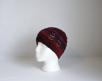 Appleseed Hat knitting PATTERN - warm cozy lovely knit stocking hat - permission to sell finished items
