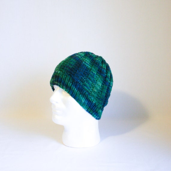 Sea Monster Hat knitting PATTERN large warm cozy ribbed knit