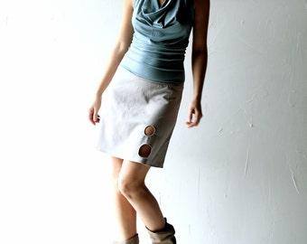 Womens skirt, Mini skirt, Short skirt, Aline skirt, Womens clothes, Women clothing, Pencil skirt, Grey skirt, Jersey skirt, Yoga clothes